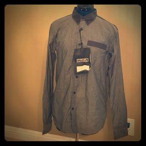 NWT Ezekiel Grey Button Down Shirt